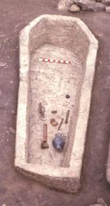 Roman stone coffin